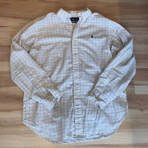 Tan Ralph Lauren casual button up